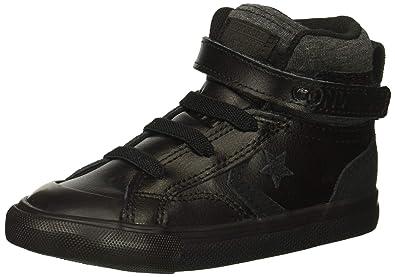 d901b6fb9873 Converse Boys  Pro Blaze Strap Leather Suede High Top Sneaker Black