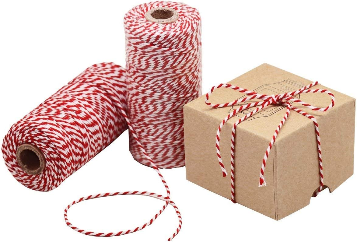 Baker Twine 110 Yards Orange and White Bakers Twine FULL SPOON Craft Gift Wrap Scrapbook Packaging