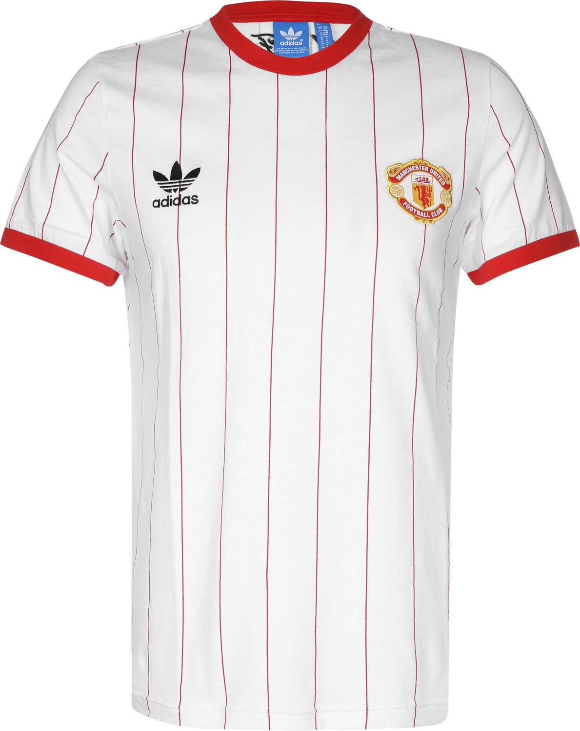 9e05eb17f8b Adidas MU Pin Tee L Wh Red  Amazon.co.uk  Sports   Outdoors