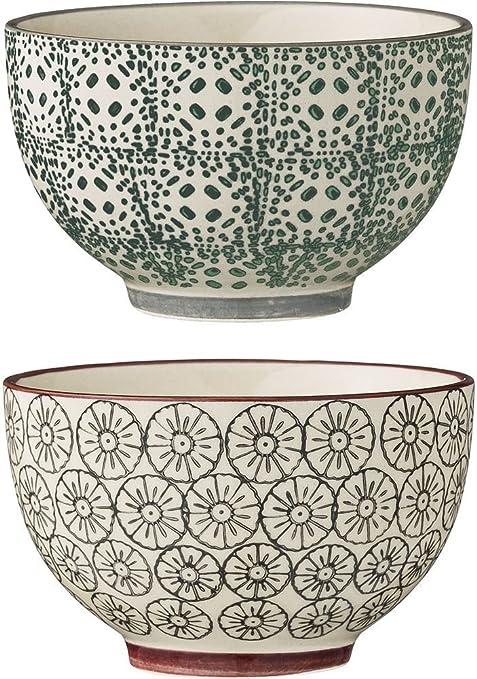 /Karine Cereal Bowls Aubergine//Grey L Bloomingville/
