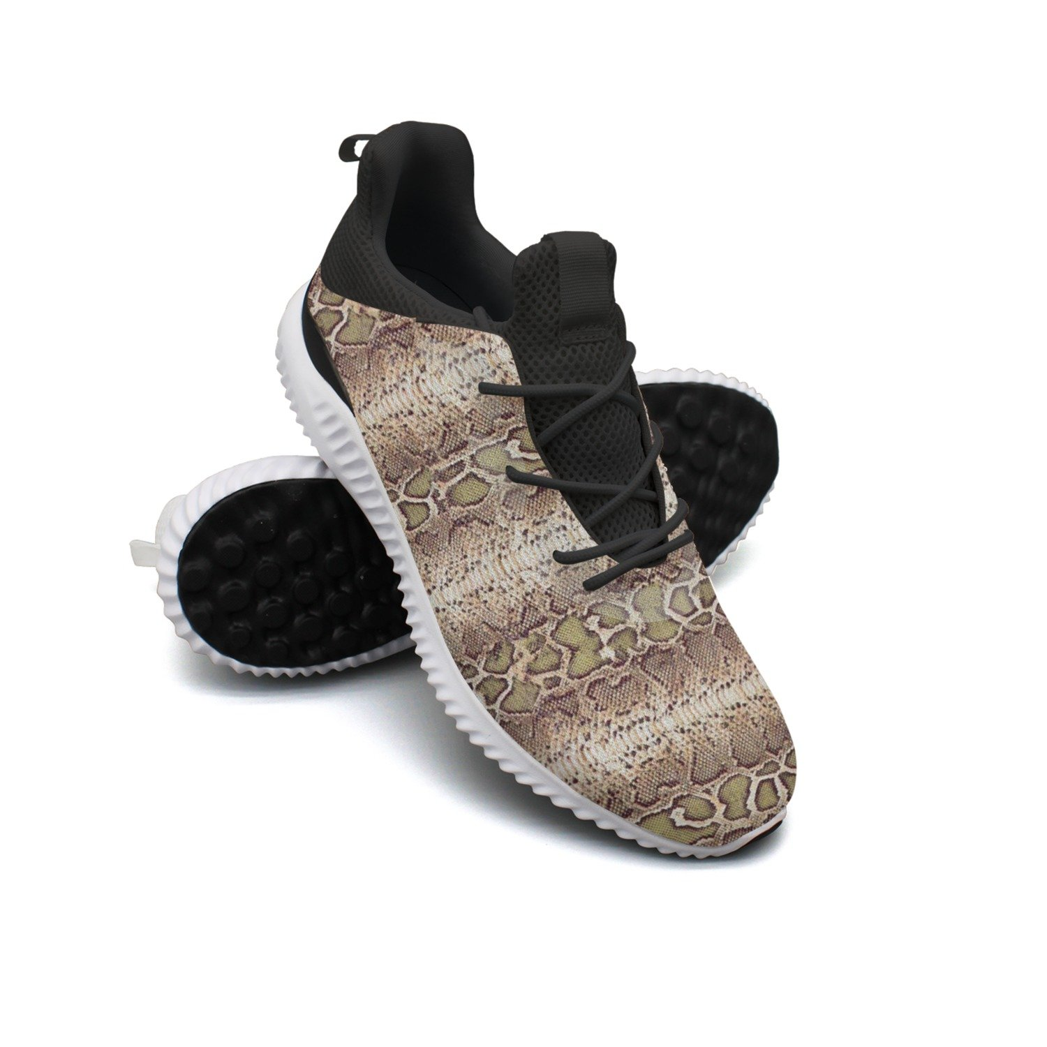 Fake Snake Skin Leisure Casual Running Shoes Man Cool Novelty Cute