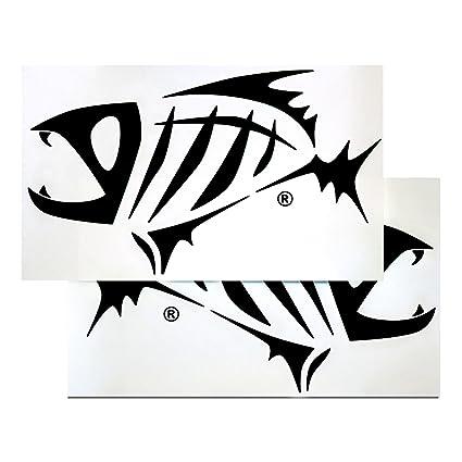 Amazon Com G Loomis Black Skeleton Fish Boat Decal Set Sports