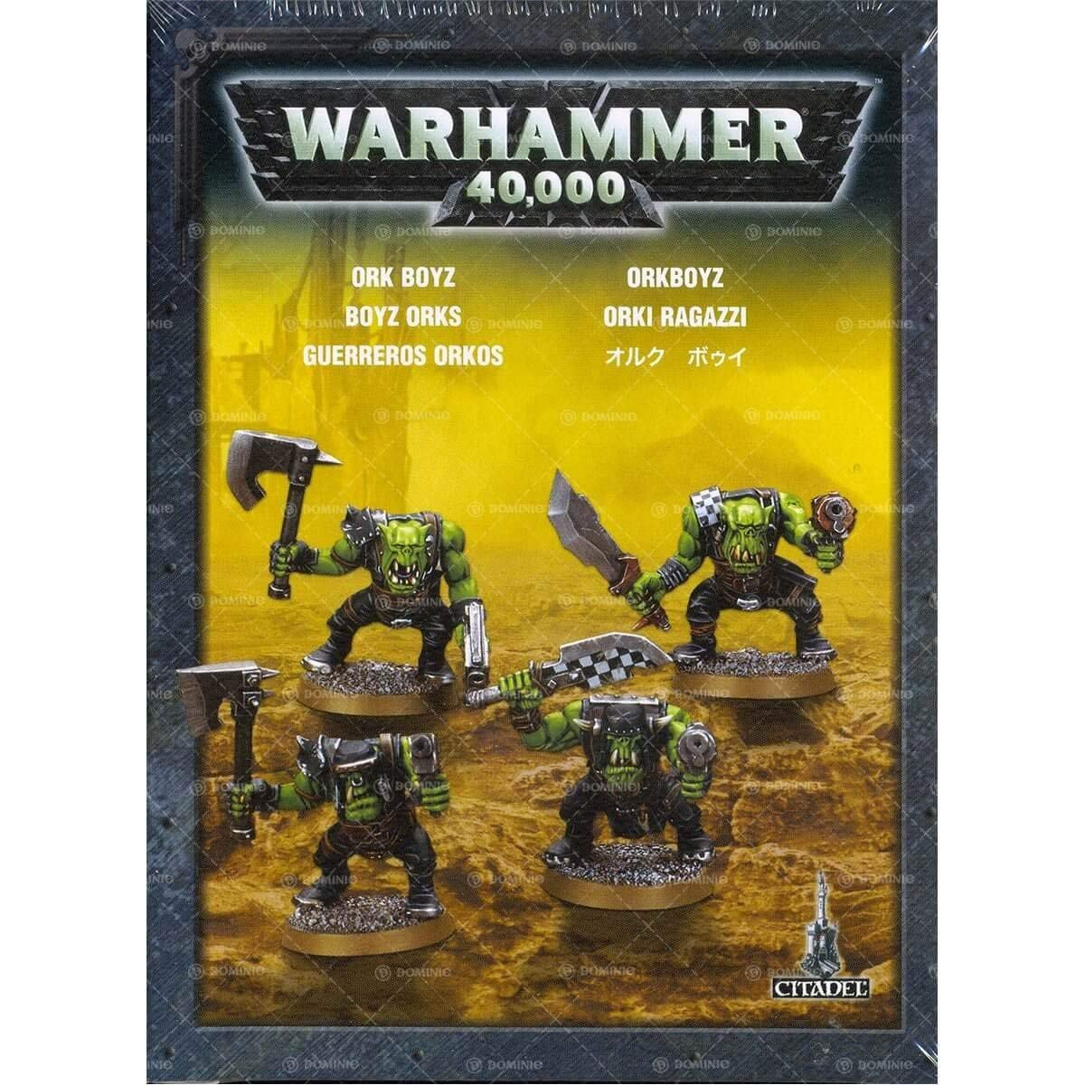 Games Workshop Jeux Atelier 99120103015Warhammer 101600cm Ork Boyz Action Figure