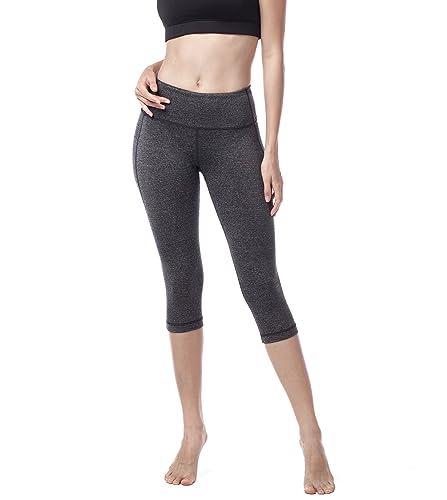 LAPASA Donna Capri Leggings 3/4 Allenamento Opaco Yoga Fitness Spandex Palestra Pantaloni L02