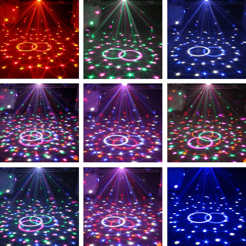 Nequare Party Lights Sound Activated Disco Ball Strobe Light 7 Lighting Color Disco Lights with Remote Control for Bar Club Party DJ Karaoke Wedding Show and Outdoor by Nequare (Image #7)