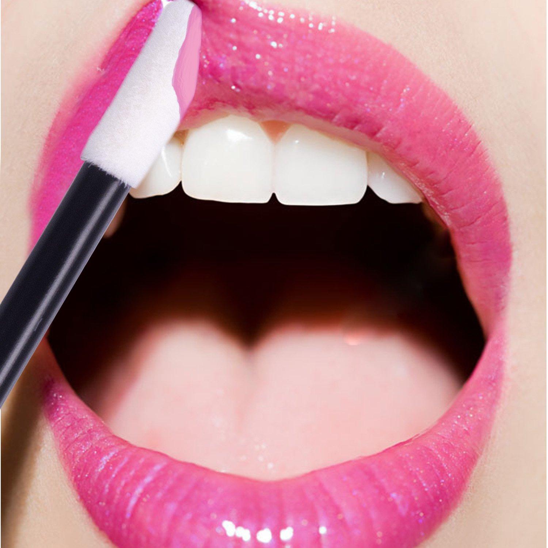 Disposable Lipstick Wands Applicators 600pcs - Disposable Lip Brushes Disposable Lip Wands ECBASKET Lipgloss Applicators Tester Wands Disposable Makeup Applicators Makeup Brushes Tool Kits Black: Beauty