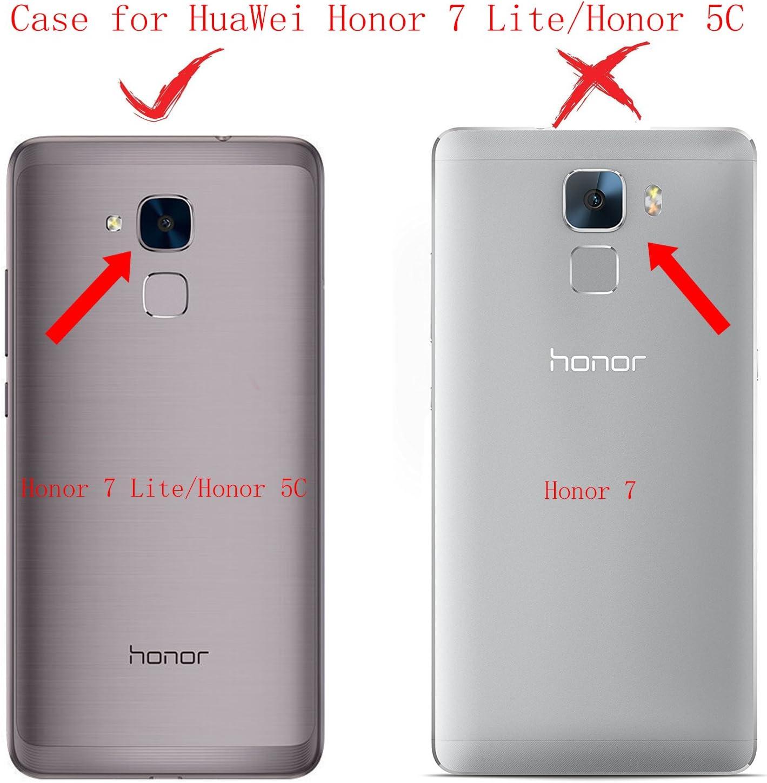 KaiTelin Funda Huawei Honor 7 Lite - Moda Delgado TPU Cáscara ...