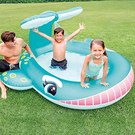 Intex 57440NP - Piscina Hinchable Ballena con aspersor: Amazon.es ...
