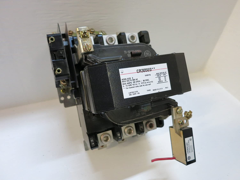 Amazon com: GE CR305E0 Motor Starter NEMA SIZE 3 600VAC 100