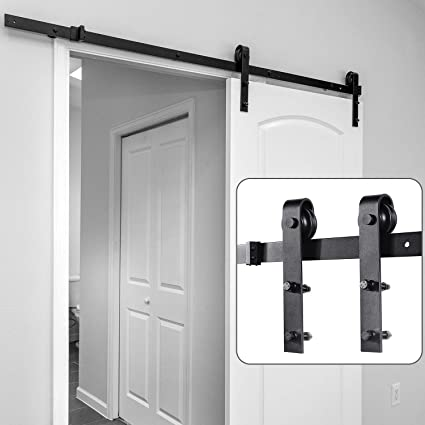 Attirant Barn Door Hardware Kit 6.6ft, Ohuhu Sliding Barn Doors Track Heavy Duty  Sturdy With