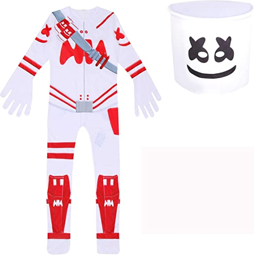 LQSZ Boys Girls Christmas Costume with Gingerbread Mask for Kids Gift