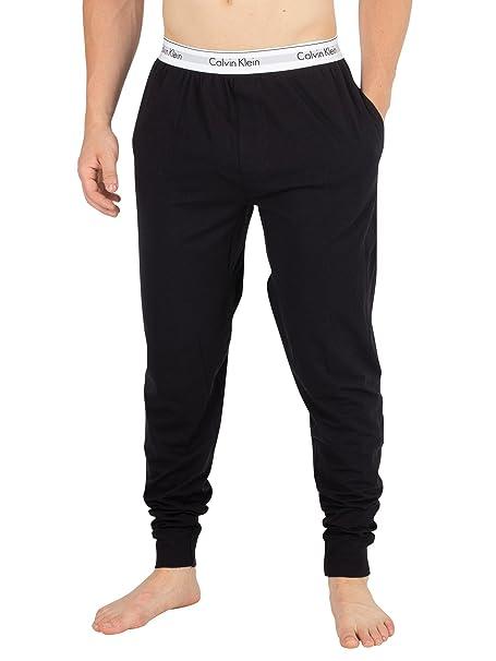 Calvin Klein Hombre Logo Pijama Bottoms, Negro: Amazon.es: Ropa y accesorios