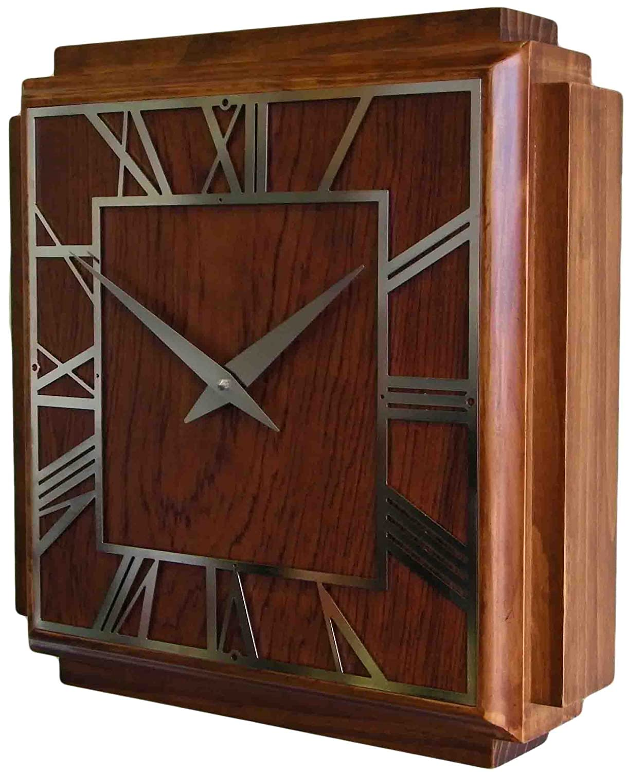 Roger lascelles wooden deco wall clock amazon kitchen home amipublicfo Gallery