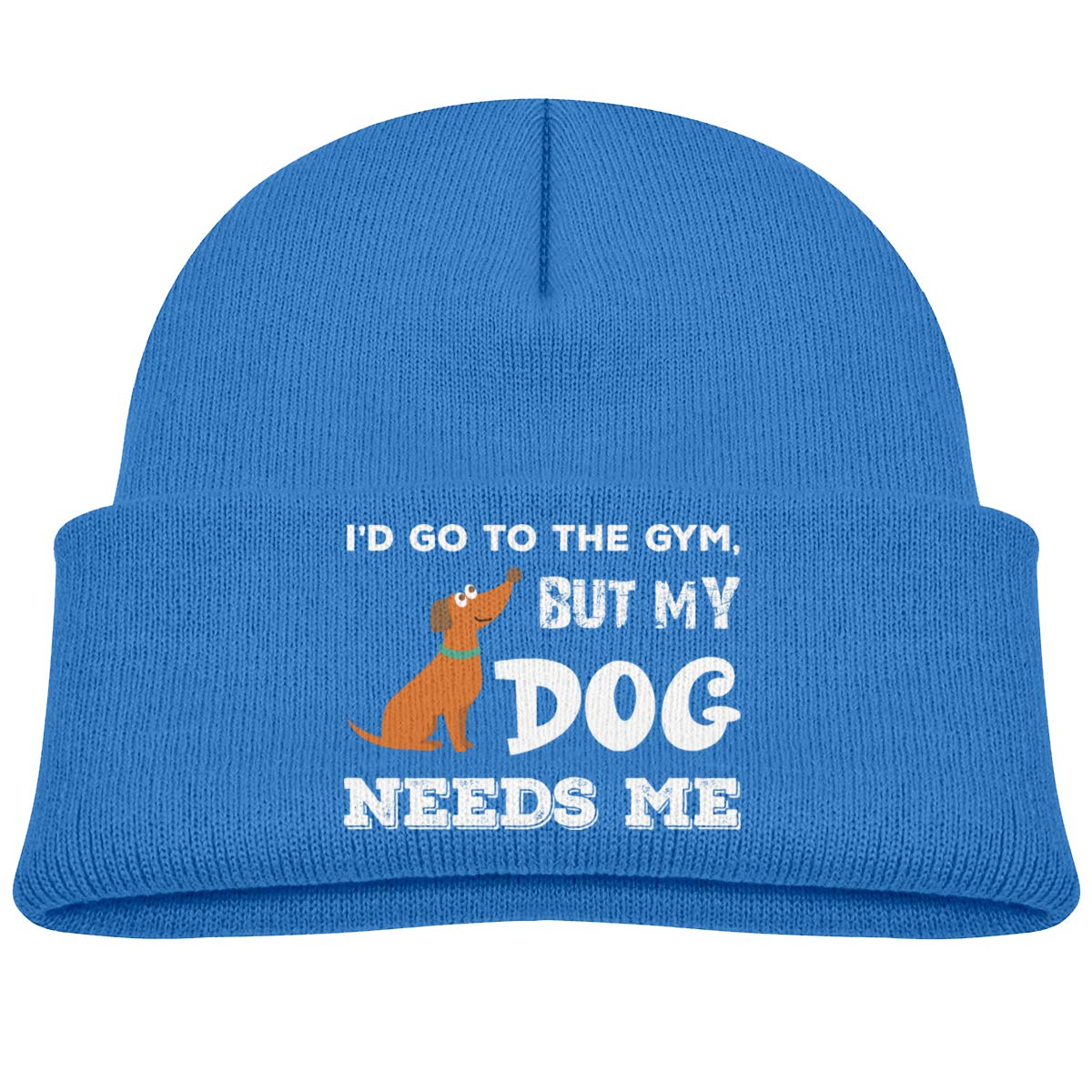 Id Go to The Gym But My Dog Needs Me Knit Hats Baby Girls Blue