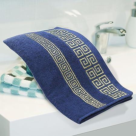Toallas de Baño Multiusos Toalla de Mano de Algodón 100% Toalla de Cara Suave Para Hotel Hogar 72 x 34cm / 28.35 x 13.39 Pulgadas 2pcs(Blue): Amazon.es: ...