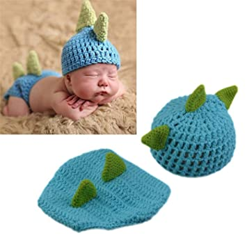 Newborn Baby Dinosaur Knit Crochet Clothes Hat Photo Photography Prop Outfit