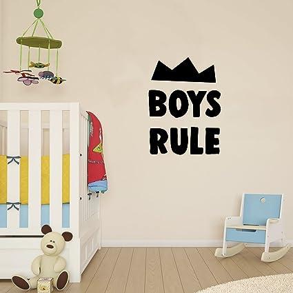 "Amazon.com: Wall Decal for Boys Bedroom - Boys Rule - 23"" x 17"