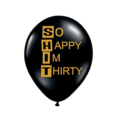 So Happy I'm Thirty Balloons - 30th Birthday Balloons - Set of 3: Health & Personal Care