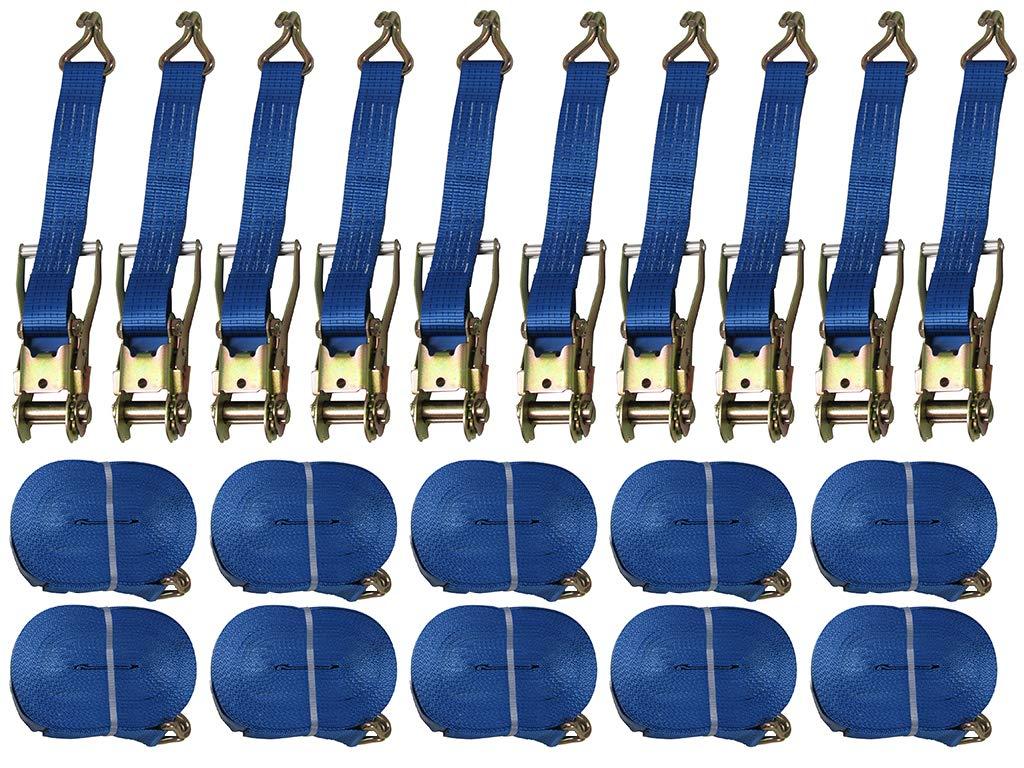 Secure Fix Direct 50 mm 6 Metre 5 Ton Tie Down Ratchet Lashing Strap Vehicle X10 SecureFix Direct