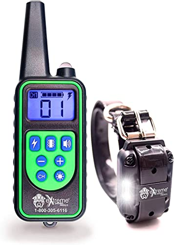 Remote Control Dog Shock Collar for Small Dogs or Big Dogs – 99 Levels Correction, Vibration, or Tone Only – Rechargeable Remote and Waterproof Collar Kit for 1 Dog