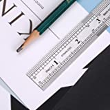 """BoomYou 6 Pack 6"""" Stainless Steel Ruler Office"""