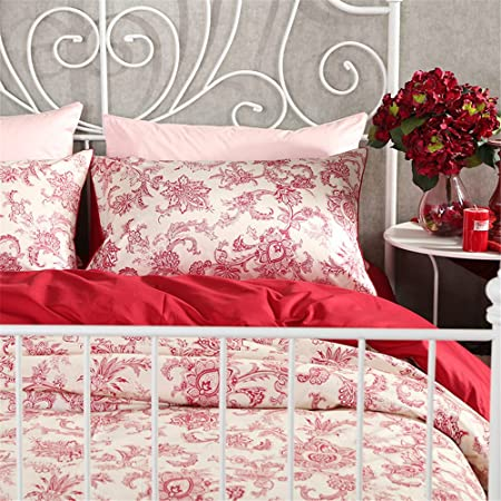 Auvoau Paisley Bedding Set Paisley Bedding Moroccan Style Bedding Boho Bed  Sheets Queen/King 4pc
