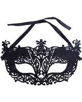Topmei Venetian Masquerade Women Mask Costume Party Face Mask Black