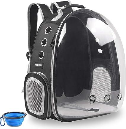 BEIKOTT Cat Backpack Carriers Bag - Fantastic Transparent Backpack for Smaller Pets