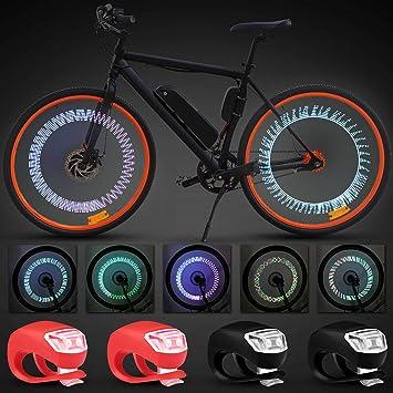 Juego de 6 Luces de Bicicleta Luces de Rueda de Bicicleta Luces de ...