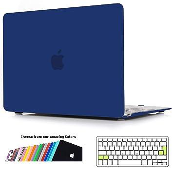 iNeseon Funda para MacBook 12 Pulgada A1534, Carcasa Case Duro y Cubierta del Teclado para Apple MacBook 12 Retina, Azul Marino