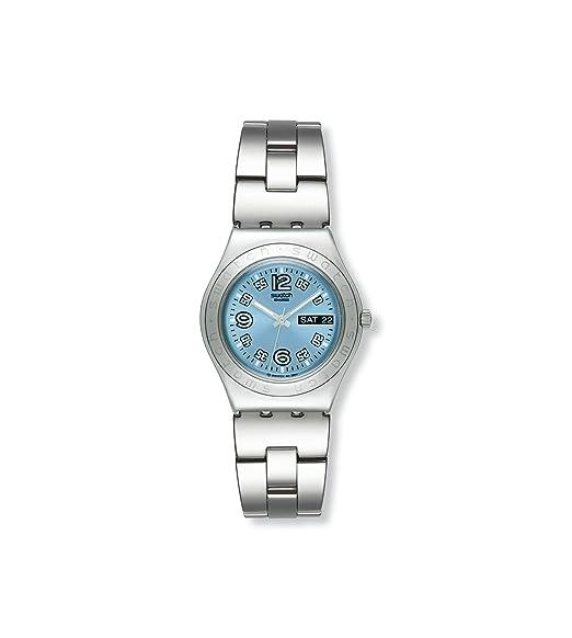Swatch IRONY MEDIUM - Reloj de mujer de cuarzo, correa de acero inoxidable color plata: Swatch: Amazon.es: Relojes