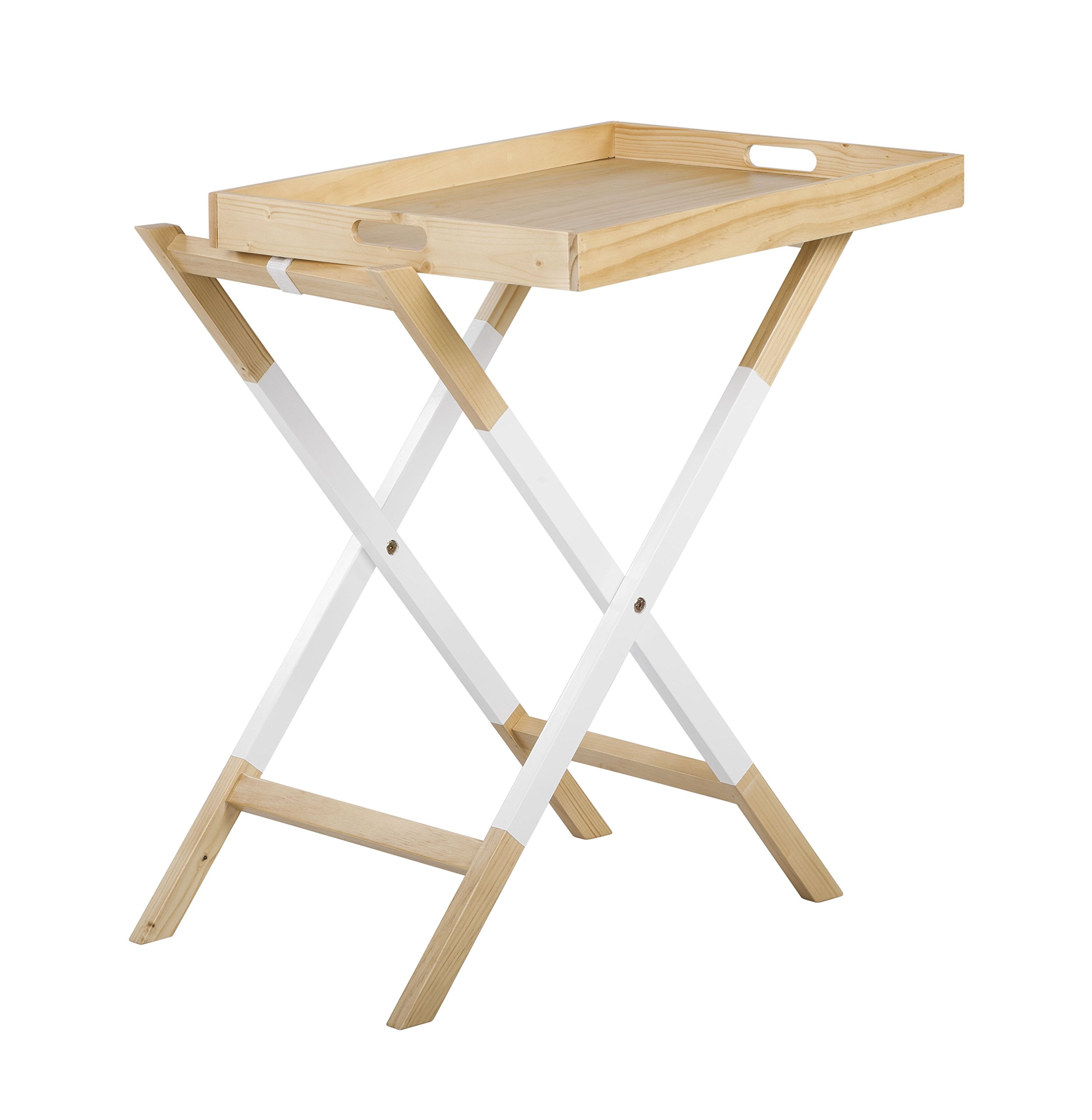 Universal Experts FUST10026A Remus Folding Tray Table, Oak/White by Universal Experts (Image #5)