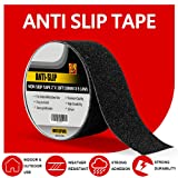 FUNTECPACK Anti Slip Traction Tape-30 Foot x 2 inch -Best Friction,Grip,Abrasive Adhesive for Stairs, Safety,Non Skid Treads ,Indoor, Outdoor - Black