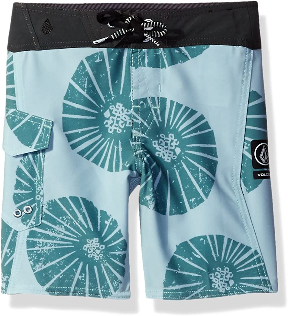 Volcom Little Boys Magnetic Liney MOD 13.5 Adjustable Waist Boardshort