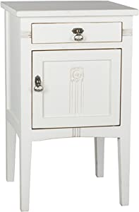 Porthos Home Diem Kids Nightstand Crafted From Solid Pine Wood With Pull-out Drawer And Storage Compartment, One Size, White