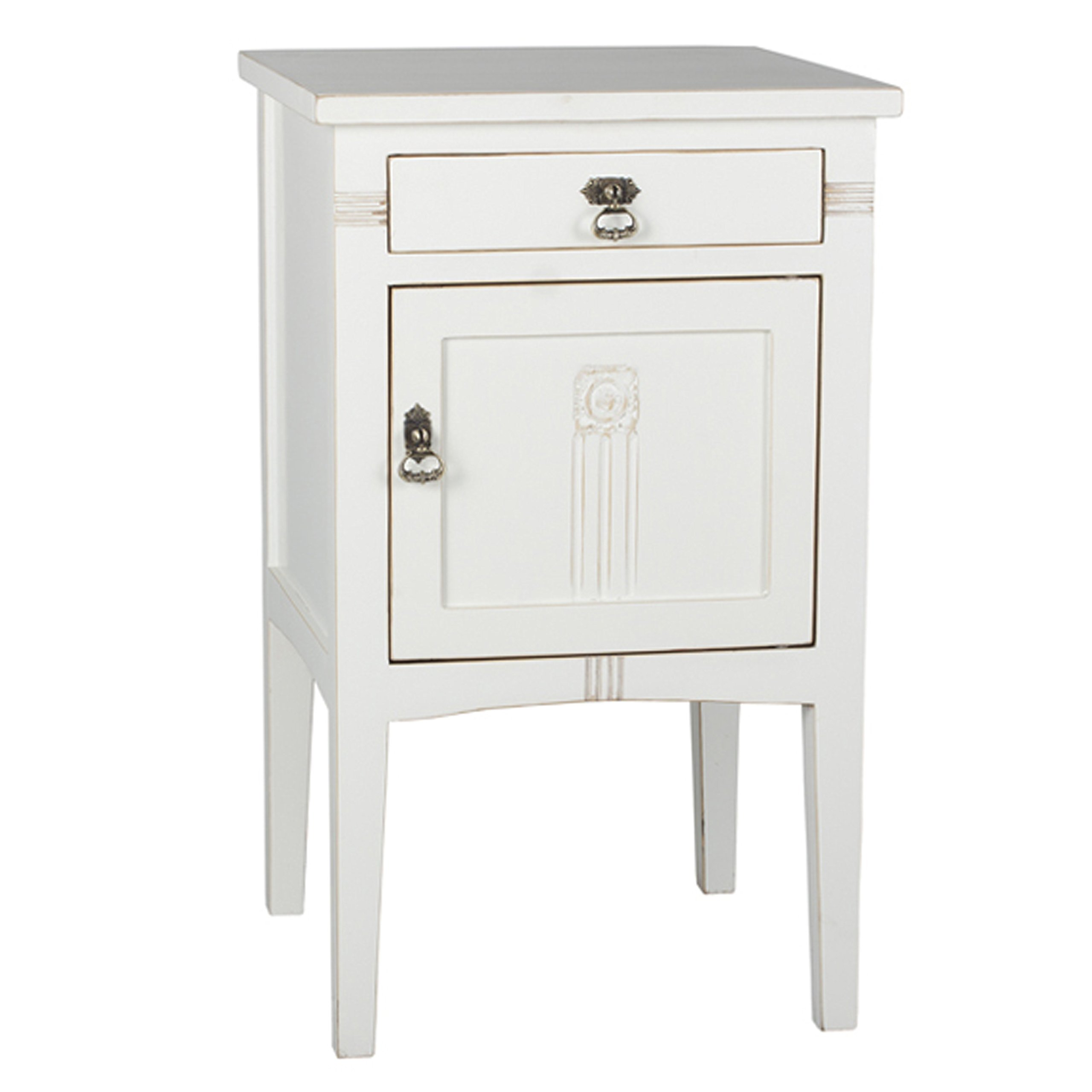 Antique Revival Saybrook Nightstand, White