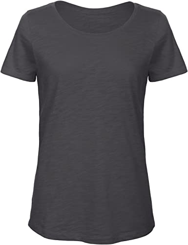 B&C - Camiseta de Manga Corta de algodón orgánico para Mujer: Amazon.es: Ropa y accesorios