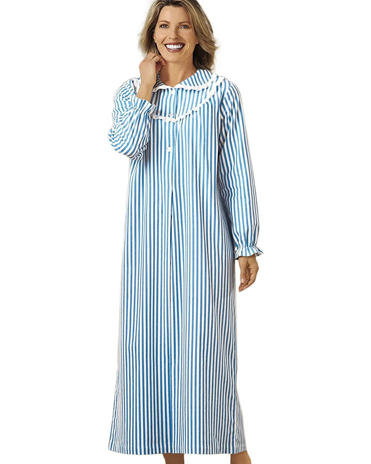National Women's Striped Flannel Nightgown