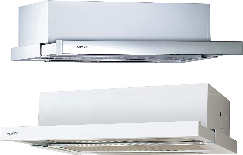 APELSON Campana Modelo Helia 600 | Tres nivelesde extracción | Instalación con Salida de Aire al Exterior/recirculación | Eficiencia energética D, 54 Decibelios, 3 Velocidades, Acero inoxidable: Amazon.es: Hogar