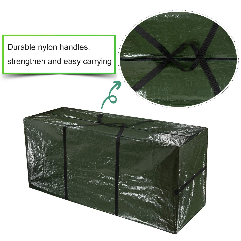 TUPARKA Bolsa de almacenamiento organizadora de gran tama/ño Bolsas de almacenamiento reutilizables para trabajo pesado Bolsa m/óvil con asas y cremalleras fuertes para mudanza camping