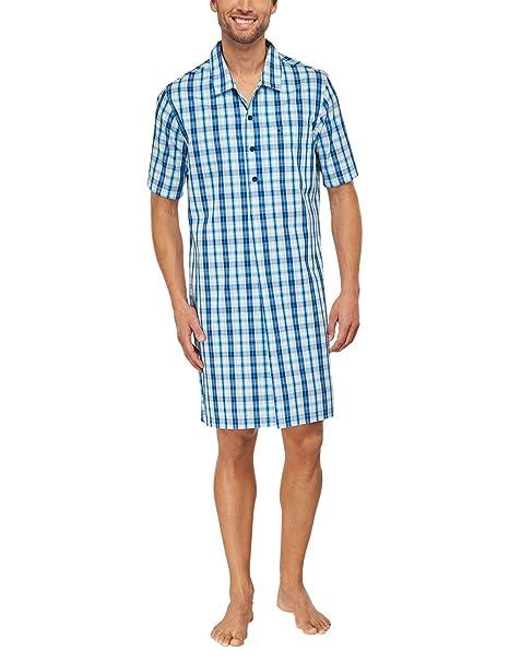 Seidensticker Nachthemd 1/2-Top de Pijama Hombre Azul (Blau 800) Small