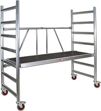 Profesional de aluminio Andamio plegable 178 x 74 cm 178sk: Amazon.es: Bricolaje y herramientas