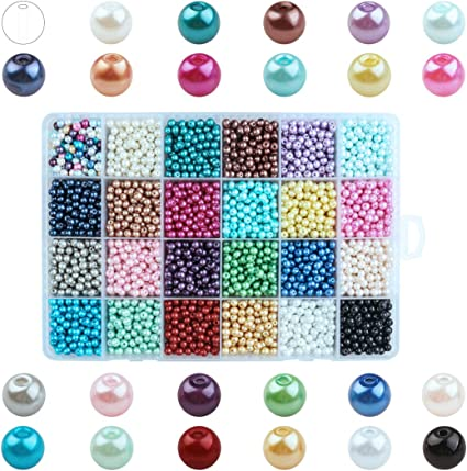 230PCS 4mm Glass Pearl Spacer Dark Purple Color Round DIY Imitation Pearl beads