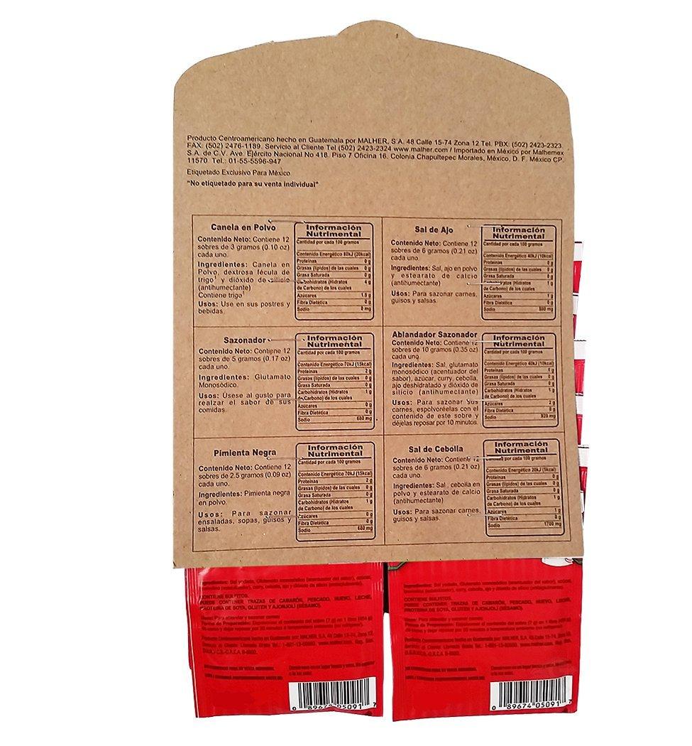 Amazon.com : Malher Suave Rico Seasoning 0.4 oz - Sazonador ...