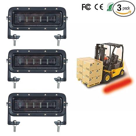 Amazon.com: aokairuisi LED Forklift Luz de seguridad Almacén ...