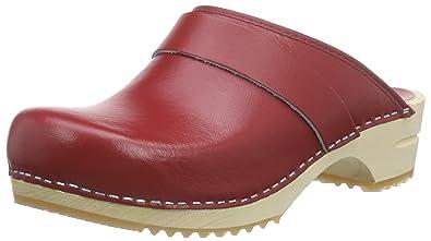 Sanita Damen Fenja Open Clogs, Rot (Red 4), 41 EU