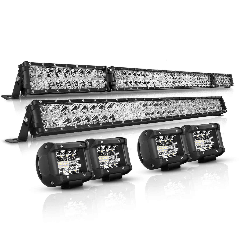Autofeel (6000k) White LED Light Bars For Jeep Wrangler