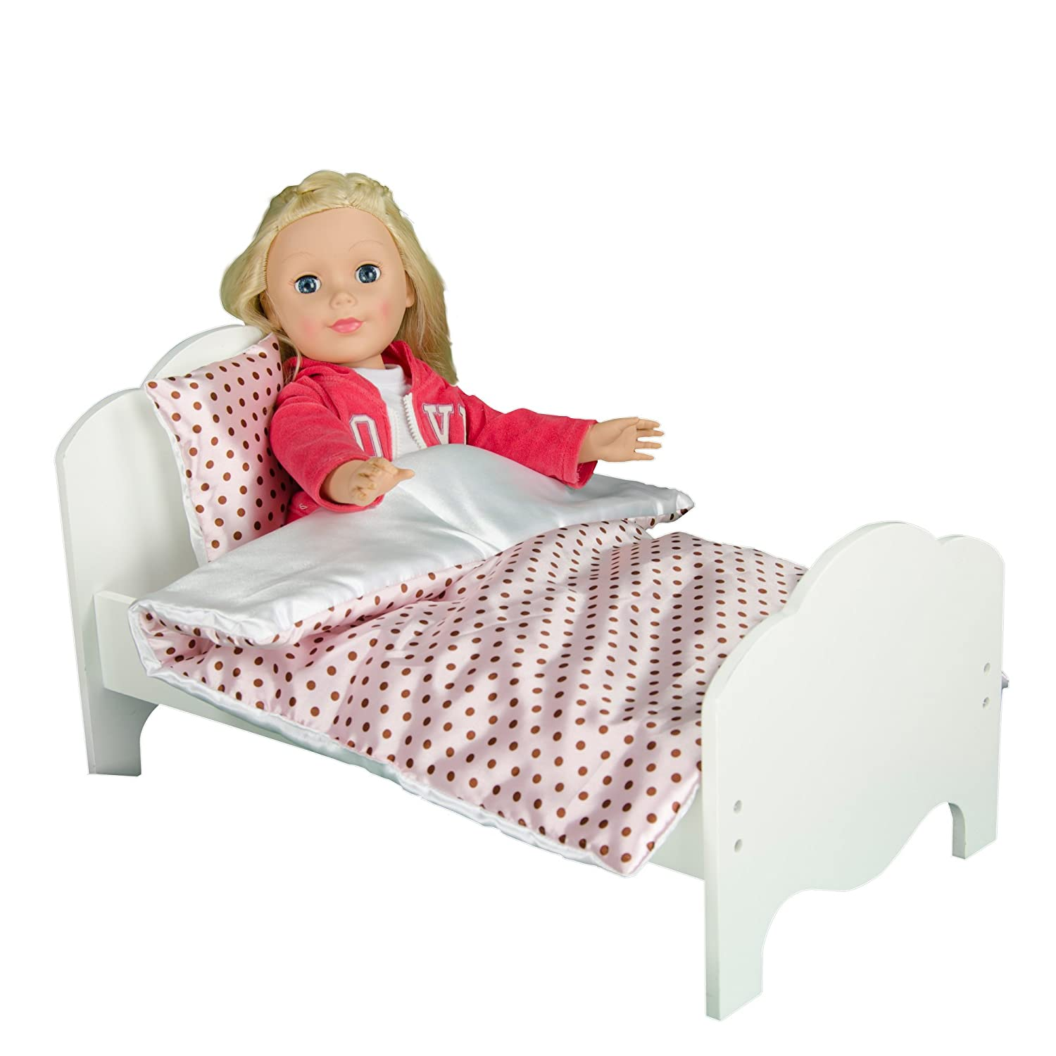 Olivia's Little World - Princess Classic Single Bed | Wooden 18 inch Doll Furniture