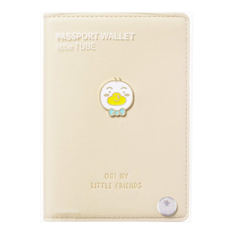 KAKAO FRIENDS PU Porte-Passeport en Cuir Couverture Organisateur Case Wallet Voyage Multi Poches caract/ère Mignon 10.5 14.5 cm Ryan