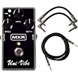 MXR M68 Uni-Vibe Chorus Vibrato Effect Pedal Bundle for Electric Guitar with 2 Patch Cable and 1 Instrument Cable